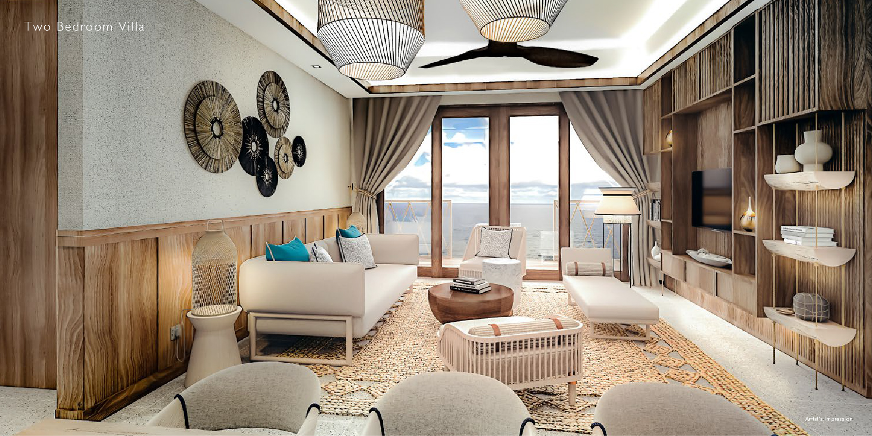 Two Bedroom Villa Type 1, 2 & 3